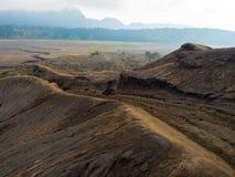 Fermez-vous du bâti Bromo, le bâti actif Bromo est l'une des attractions touristiques les plus visitées dans Java-Orientale Image stock