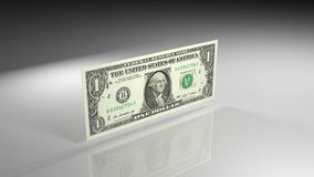 Fermez-vous du billet de banque du dollar dans la vue de rotation banque de vidéos
