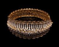 Fermez-vous du bracelet de diamant de concepteur Image libre de droits