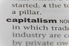 Fermez-vous du capitalisme de mot photos libres de droits
