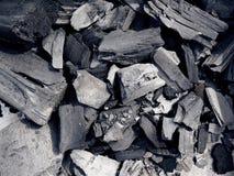 Fermez-vous du charbon de barbecue Photos libres de droits