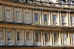 Fermez-vous du croissant royal, Bath, Angleterre, R-U Photos stock