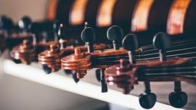 Fermez-vous du détail du violon image libre de droits