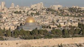 Fermez-vous du dôme de la roche des olives de mt, Jérusalem clips vidéos