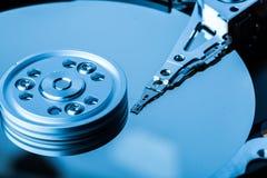 Fermez-vous du disque dur avec la surface propre photographie stock libre de droits