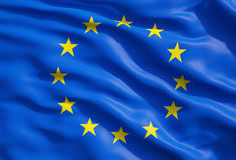 Fermez-vous du drapeau de l'Union européenne Images libres de droits