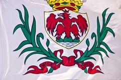 Fermez-vous du drapeau de la Côte d'Azur agréable et Image libre de droits