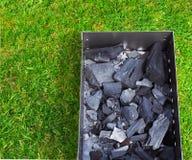 Fermez-vous du gril de barbecue en préparation Photographie stock libre de droits