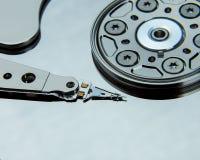 Fermez-vous du lecteur de disque dur ouvert d'ordinateur photographie stock libre de droits