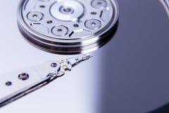 Fermez-vous du lecteur de disque dur ouvert d'ordinateur Photo libre de droits