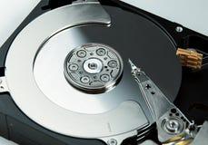 Fermez-vous du lecteur de disque dur ouvert HDD d'ordinateur Photographie stock
