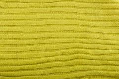 Fermez-vous du morceau vert de tricots Photo libre de droits