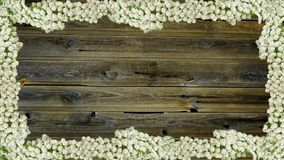 Fermez-vous du mur fait de planches en bois Photos stock