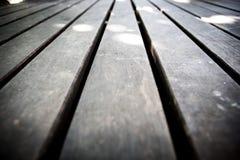 Fermez-vous du plancher fait en en bois Photo stock