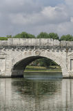 Fermez-vous du pont romain Photographie stock