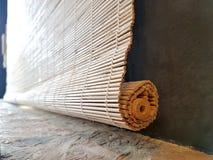 Fermez-vous du rideau en bambou Photo libre de droits