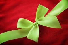 Fermez-vous du ruban de Noël Image libre de droits