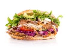 Fermez-vous du sandwich à chiche-kebab Images libres de droits
