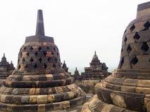 Fermez-vous du temple bouddhiste du 9ème siècle Borobudur, Magelang Regency de Mahayana, près de Yogyakarta, Java Island Images libres de droits