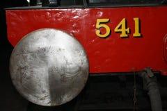 Fermez-vous du vieil amortisseur de train Photographie stock