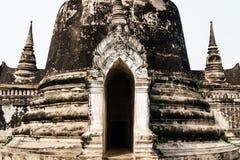 Fermez-vous du vieux beau temple thaïlandais dans la PA historique d'Ayutthaya Photos stock