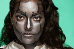 Fermez-vous du visage de femmes photo libre de droits