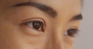 Fermez-vous du visage de la femme japonaise Photo libre de droits