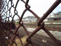 Fermez-vous jusqu'à la barrière Photographie stock libre de droits