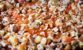 Fermez-vous jusqu'à une recette soused de viande Images libres de droits