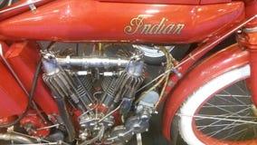 Fermez-vous sur la moto indienne Photos libres de droits
