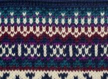 Fermez-vous sur la texture de laine de knit Photo libre de droits