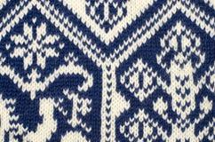 Fermez-vous sur la texture de laine de knit Images libres de droits