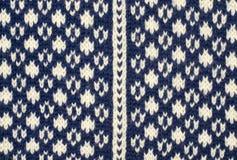 Fermez-vous sur la texture de laine de knit Photo stock