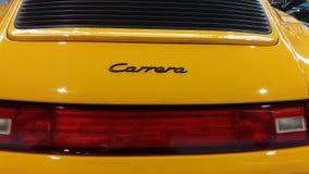 Fermez-vous sur la voiture de vintage de Porsche Photographie stock libre de droits