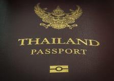 Fermez-vous sur le passeport thaïlandais Image stock