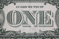 Fermez-vous sur un inverse du dollar photo libre de droits