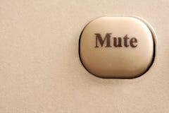 Fermez-vous vers le haut d'un bouton muet Images libres de droits