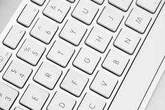Fermez-vous vers le haut d'un clavier d'ordinateur Image libre de droits