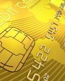Fermez-vous vers le haut d'un par la carte de crédit Image libre de droits