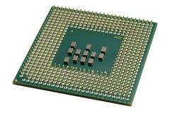 Fermez-vous vers le haut d'un processeur de CPU Photos stock