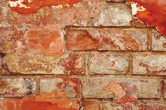 Fermez-vous vers le haut d'un vieux mur de briques Photo libre de droits