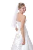 Fermez-vous vers le haut d'une belle mariée. Image libre de droits