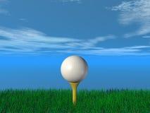 Fermez-vous vers le haut d'une bille de golf images libres de droits