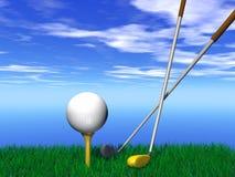 Fermez-vous vers le haut d'une bille de golf photo libre de droits