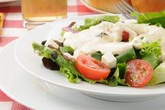 Fermez-vous vers le haut d'une salade verte photographie stock