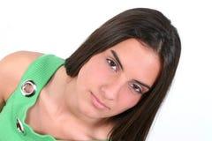 Fermez-vous vers le haut de de l'adolescence avec l'expression sérieuse Photo libre de droits