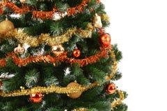 Fermez-vous vers le haut de l'arbre de Noël Images libres de droits