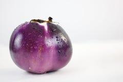 Fermez-vous vers le haut de l'aubergine Photo stock