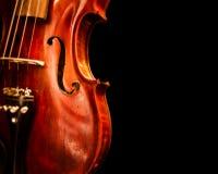 Fermez-vous vers le haut de l'espace de copie de violon Photographie stock libre de droits