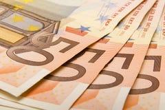 Fermez-vous vers le haut de l'euro Photos libres de droits